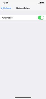 Apple iPhone XS - Rete - Selezione manuale della rete - Fase 5
