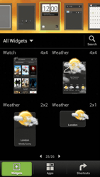 HTC One S - Getting started - Installing widgets and applications on your start screen - Step 4