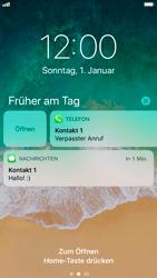 Apple iPhone 8 - iOS 11 - Sperrbildschirm und Benachrichtigungen - 0 / 0