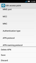 Alcatel Pop C7 - Internet and data roaming - Manual configuration - Step 17