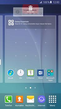 Samsung Galaxy A8 - Startanleitung - Installieren von Widgets und Apps auf der Startseite - Schritt 10