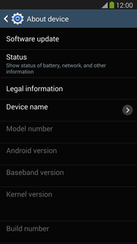 Samsung Galaxy Note III LTE - Software - Installing software updates - Step 7