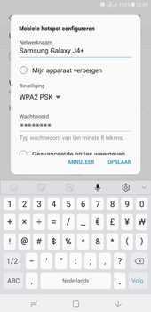 Samsung galaxy-j4-plus-dual-sim-sm-j415fn - WiFi - Mobiele hotspot instellen - Stap 9