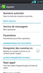 LG P700 Optimus L7 - Messagerie vocale - configuration manuelle - Étape 6