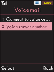 Samsung S5050 Allure S - Voicemail - Manual configuration - Step 6