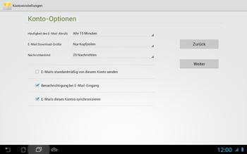 Asus Padfone 2 - E-Mail - Konto einrichten - Schritt 17