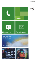 HTC C110e Radar - Internet - Example mobile sites - Step 1
