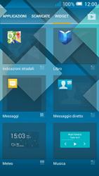 Alcatel Pop C7 - Operazioni iniziali - Installazione di widget e applicazioni nella schermata iniziale - Fase 4
