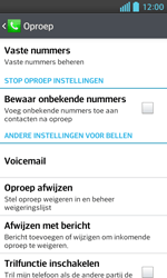 LG E460 Optimus L5 II - Voicemail - Handmatig instellen - Stap 5