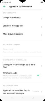 Oppo A9 2020 - Sécuriser votre mobile - Personnaliser le code PIN de votre carte SIM - Étape 5