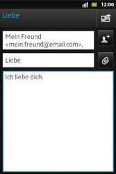 Sony Xperia Go - E-Mail - E-Mail versenden - Schritt 9