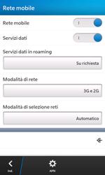 BlackBerry Z10 - Internet e roaming dati - Disattivazione del roaming dati - Fase 6