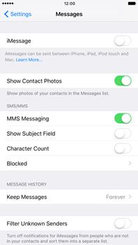 Apple Apple iPhone 6s Plus iOS 10 - iOS features - Send iMessage - Step 4
