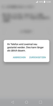 LG Q6 - Fehlerbehebung - Handy zurücksetzen - 11 / 13