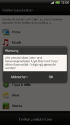 HTC One X Plus - Gerät - Zurücksetzen auf die Werkseinstellungen - Schritt 7