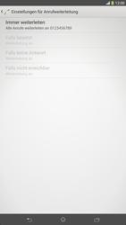 Sony Xperia Z Ultra LTE - Anrufe - Rufumleitungen setzen und löschen - Schritt 8