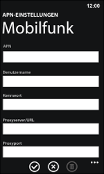 Nokia Lumia 800 / Lumia 900 - Internet und Datenroaming - Manuelle Konfiguration - Schritt 11