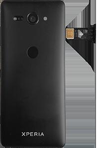 Sony Xperia XZ2 Compact - Android Pie - SIM-Karte - Einlegen - Schritt 5