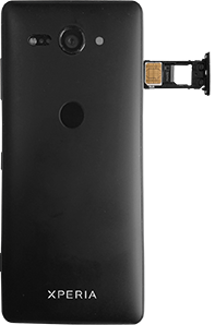 Sony Xperia XZ2 Compact - SIM-Karte - Einlegen - 5 / 8