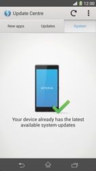 Sony Xperia Z1 - Software - Installing software updates - Step 8