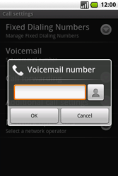 Samsung I7500 Galaxy - Voicemail - Manual configuration - Step 6