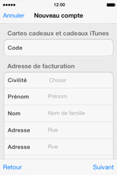 Apple iPhone 4 S iOS 7 - Applications - Créer un compte - Étape 20