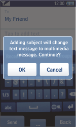Samsung S8500 Wave - MMS - Sending pictures - Step 9