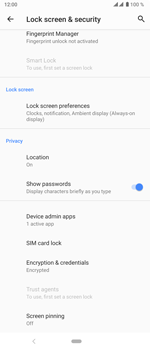 Sony Xperia 5 - Getting started - How to enable a SIM pin - Step 6