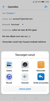 Huawei Mate 10 Pro Dual-SIM (Model BLA-L29) - E-mail - Bericht met attachment versturen - Stap 10