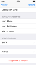 Apple iPhone 5c - E-mail - configuration manuelle - Étape 20