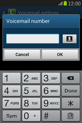 Samsung S6310 Galaxy Young - Voicemail - Manual configuration - Step 8