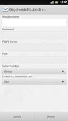 Sony Xperia S - E-Mail - Manuelle Konfiguration - Schritt 8