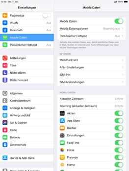 Apple iPad Air - iOS 12 - Ausland - Im Ausland surfen – Datenroaming - Schritt 6
