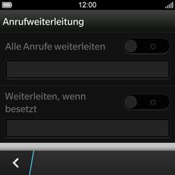 BlackBerry Q10 - Anrufe - Rufumleitungen setzen und löschen - 7 / 13