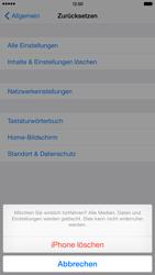 Apple iPhone 6 Plus iOS 8 - Gerät - Zurücksetzen auf die Werkseinstellungen - Schritt 8