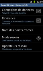 Samsung Galaxy S Advance - Réseau - Sélection manuelle du réseau - Étape 6