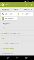 Sony Xperia Z3 - Applications - Installation d