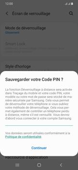 Samsung Galaxy A20e - Sécurité - activéz le code PIN de l'appareil - Étape 12