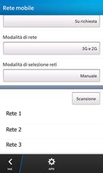 BlackBerry Z10 - Rete - Selezione manuale della rete - Fase 9