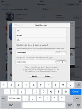 Apple iPad mini iOS 7 - Apps - Einrichten des App Stores - Schritt 16