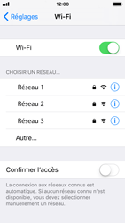 Apple iPhone SE - iOS 11 - Internet et connexion - Accéder au réseau Wi-Fi - Étape 5