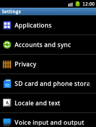 Samsung Galaxy Pocket - Mobile phone - Resetting to factory settings - Step 4