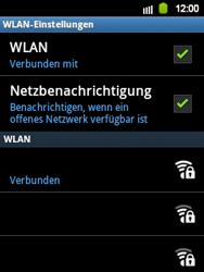 Samsung S5360 Galaxy Y - WLAN - Manuelle Konfiguration - Schritt 9