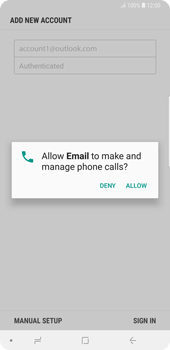 Samsung Galaxy Note9 - E-mail - 032c. Email wizard - Outlook - Step 10