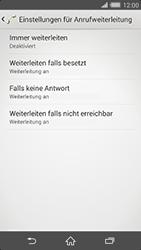 Sony Xperia Z2 - Anrufe - Rufumleitungen setzen und löschen - Schritt 6