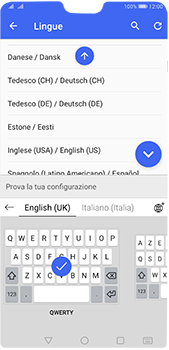 Huawei P20 Pro - Android Pie - Operazioni iniziali - Come aggiungere una lingua alla tastiera - Fase 9