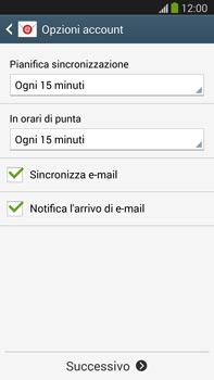 Samsung Galaxy Note III LTE - E-mail - configurazione manuale - Fase 17