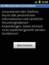 Samsung S5570 Galaxy Mini - Fehlerbehebung - Handy zurücksetzen - Schritt 9