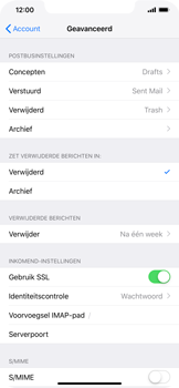 Apple iPhone XS Max - E-mail - Account instellen (IMAP zonder SMTP-verificatie) - Stap 24
