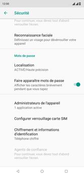 Wiko View 2 Plus - Sécurité - modifier SIM PIN - Étape 5